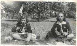 PHOTO ORIGINALE  JEUNES  FILLES SCOUTS - Scouting