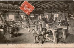 Cpa 80 FAMECHON  Fabrique De Cuivrerie Etirage Des Brises-Bise Et Des Tringles à Coulisses + Convoyeur Rouen à Amiens - France