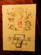 17399) ETICHETTA PER VINO O LIQUORE 7 STELLE FINE BRANDY. LIEVI PIEGHE NON RECENTE - Whisky