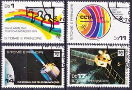 2017-0313 Sao Tomé 1979 World Telecommunication Day, 50 Years Of CCIR Complete Set Mi 675-678 Used O - Post
