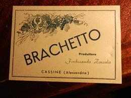 17392) ETICHETTA PER VINO O LIQUORE BRACHETTO CASSINE ALESSANDRIA NON RECENTE - Vino Rosato