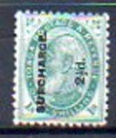 OCEANIE - TONGA - (Protetorat Britannique) - 1894-95 - N° 24 - 2 1/2 D. S. 1 S. Vert - (Georges 1er) - Samoa