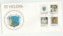 1982 ST HELENA  FDC Stamps PRINCESS DIANA BIRTHDAY Sailing Ship Cover Royalty Heraldic - Saint Helena Island