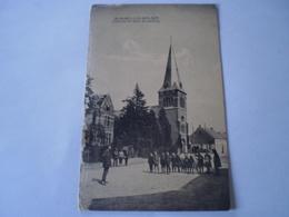 St,Rumoldus Berlaar - Berlaer // Zicht Op De Kerk En Pastorij (met Veel Volk) 19?? Rand Links Schaafplek - Berlaar
