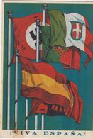 Guerra Di Spagna VIVA ESPANA - Nazismo Fascismo Franchismo Bandiere Uriarte Zaragoza - Altre Guerre