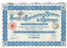 Action Ancienne - Sté D'Exploitaion Minière De L' Oubangui - Titre De 1928 - N° 16003 - Afrika
