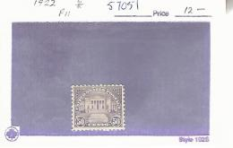 57051 ) USA  1922 *Mint - United States