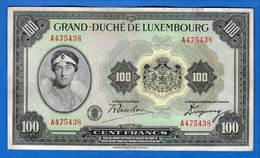 100 Fr   1945  A475438  Lux - Luxembourg