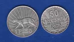 Uruguay  2  Pieces  Arg - Uruguay