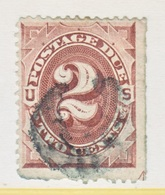 U.S.  J 2  (o)  MARGIN  GUIDE  ARROW   Perf. Faults Bottom  Margin   1st Issue - Postage Due