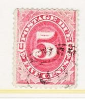 U.S.  J 25  Blunt  Perfs.    (o)     4 Th Issue - Postage Due