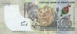 SWAZILAND P. NEW 100 E 2017 UNC - Swaziland
