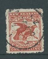 New Zealand 1899 1 Shilling Bird Definitive FU - 1855-1907 Crown Colony