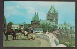 Caleche, Horses & Chateau Frontenac, Quebec - Used 1959 - Some Wear - Québec - Château Frontenac