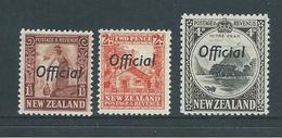 New Zealand 1936 Officials 1&1/2d , 2d & 4d MNH - Officials