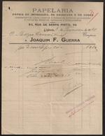 Fatura - Invoice Portugal - Lisboa 1921 - Papelaria Joaquim F. Guerra - Advertising - Portugal