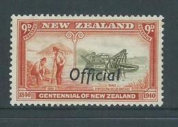 New Zealand 1940 9d Gold Dredging Official Overprint MLH - Officials