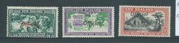 New Zealand 1940 1/2d 6d & 8d Official Overprints  Mint - Officials