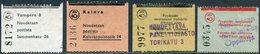 Finland 1960's 4 Parcel Labels Paket Colis Postal Finnland Finlande Suomi - Finland