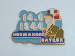 Pin's 14 JUIN 1994, DE GAULLE, NORMANDIE BAYEUX - Army