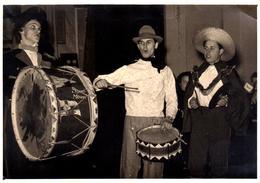 Photo Originale Déguisement & Fasching In Der Kuva - Musiciens Et Fanfare, Grosse Caisse, Tambour Et Cymbales & Clowns - Anonymous Persons