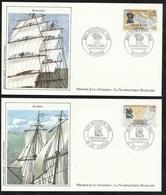 FDC 6 Lettres Illustrées 1er Jour  Le 20/02/1988 Les N°2517 à 2522 Grands Navigateurs Français (liste) TB Soldé ! ! ! - 1980-1989