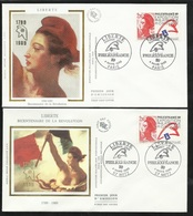 FDC 2 Lettres Illustrées Premier Jour Paris Et Metz Le 04/03/1988 Le N°2524 Philexfrance   TB Soldé ! ! ! - 1980-1989