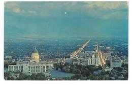 CPSM ETATS-UNIS UTAH SALT LAKE CITY NIGHT VIEW - Salt Lake City