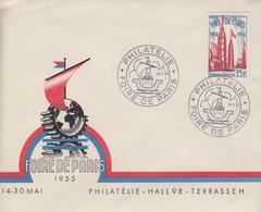 Enveloppe  FRANCE   Foire  De  PARIS   1955 - Poststempel (Briefe)