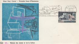 Enveloppe FDC  Flamme  1er  Jour  FRANCE  MAISONS  DES  JEUNES  ET  DE  LA  CULTURE  ERMONT   1965 - 1960-1969