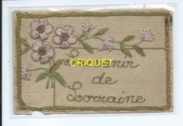 Carte Brodée, Souvenir De Lorraine, écrite Par Un Poilu Le 12 Novembre 1918 - Lorraine