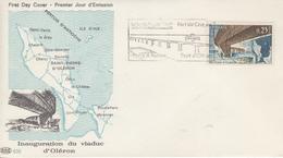 Enveloppe   Flamme   Du   1er   Jour   FRANCE   Pont  D' OLERON   BOURCEFRANC    1966 - 1960-1969