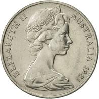 Monnaie, Australie, Elizabeth II, 20 Cents, 1981, TTB+, Copper-nickel, KM:66 - Decimal Coinage (1966-...)