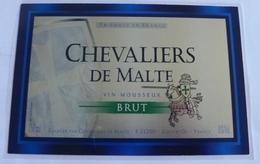 THEME CHEVALIER ; ETIQUETTE VIN CHEVALIERS DE MALTE - NEUVE - Zonder Classificatie