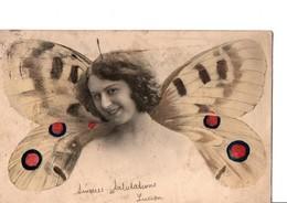 FEMME PAPILLON  3792. Les Ailes Semblent Peintes. - Women