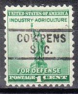 USA Precancel Vorausentwertung Preo, Locals South Carolina, Cowpens 729 - Vorausentwertungen