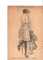 """Illustrateur  Gil Baër.  Série 34.  """"LE GRAIN DE BEAUTE"""" Femme Coquine. Marque Aristotype. - Künstlerkarten"""