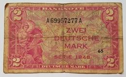 BILLET ALLEMAGNE - OCCUPATION DES ALLIES - P.2a - 2 MARK -1948 - 2 Deutsche Mark