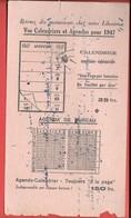 Buvard 1947 - CALENDRIERS Et AGENDAS  - SEMAINIER, EPHEMERIDE,AGENDA DE BUREAU De L'année 1947 - Buvard Utilisé - Papeterie