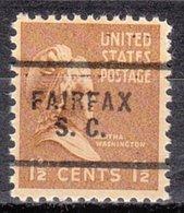 USA Precancel Vorausentwertung Preo, Locals South Carolina, Fairfax 703 - United States