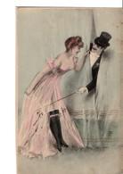 Illustrateur  M. M.  VIENNE.  Nr 68. Femme En Déshabillé, Porte-jarretelles, Homme Coquin. - Vienne