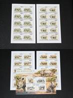 Burundi 01.12.2011 SHEETS Mi # 2110-13 Bl 168 Rhinoceros MNH OG - Rhinozerosse