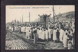 CPA COREE - Un Grand Enterrement Païen En Corée + Libellé En Anglais - SUPERBE ANIMATION - Korea, South