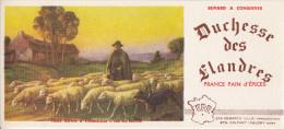 Buvard Pain D'épices Duchesse Des Flandres, Scène Pastorale, Berger Avec Troupeau De Moutons, Chien, Caudry (Nord) - Gingerbread