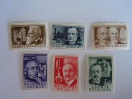 België Belgique 1955 Uitvinders Inventeurs Solvay Dony Baekeland Lenoir Fourcault Gobbe 973-978  MH * - Belgium