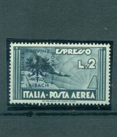 Laibach, Flugzeug Expresso, Mi.-Nr. 28 Falz * - Besetzungen 1938-45