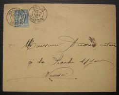 DAGUIN De Nantes Du 26/11/1898 Sur Enveloppe Réutilisée Comme Reçu + Timbre  Fiscal En Janvier 99 Voir Photos ! - Marcofilia (sobres)