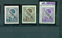 Serbien Auf Jugoslawien-Marke, Mi.- Nr.10 - 12 Postfrisch ** - Besetzungen 1938-45