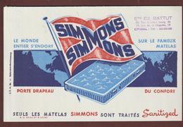 BUVARD - MATELAS  SIMMONS - Ets BATTUT  à  EPINAL. 88  - 2 Scannes. - Buvards, Protège-cahiers Illustrés