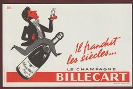 BUVARD - CHAMPAGNE  BILLECART-SALMON  à  MAREUIL SUR  AY . MARNE - 2 Scannes. - Blotters